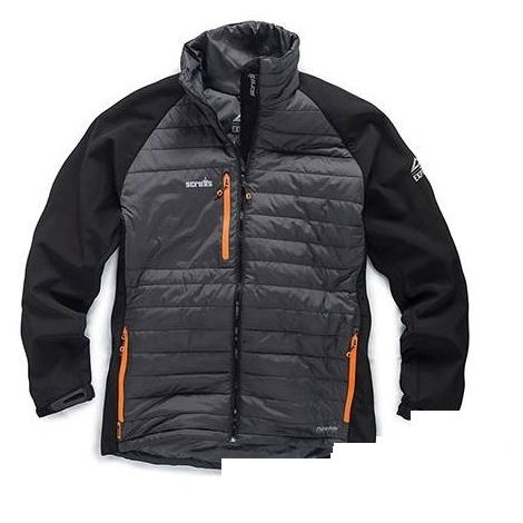 Scruffs Expedition Thermo Softshell Jacket Black / Grey Thermal (Sizes S-XXL)