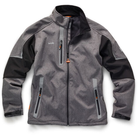 Scruffs Pro Softshell Charcoal Grey Jacket (Sizes S-XXL) Waterproof Technical Work Coat