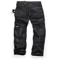 Scruffs RIPSTOP Multi-Pocket Work Trousers Black (Various Sizes) Men's Workwear