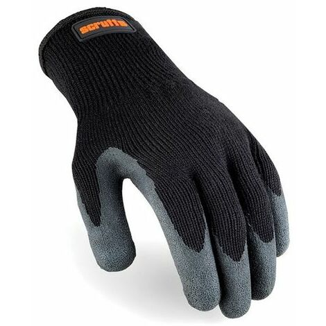 Scruffs T50997 Utility Latex-Coated Gloves Black L