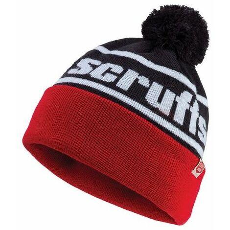 Scruffs T54306 Vintage Bobble Hat Black / Red