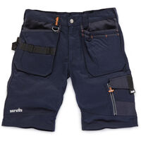 Scruffs Trade Work Shorts Ink Blue with Multiple Pockets (Sizes: 28in-40in Waist)