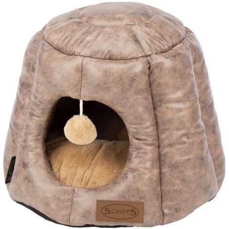 Scruffs & Tramps Cat Bed Knightsbridge 48x38 cm Brown - Brown