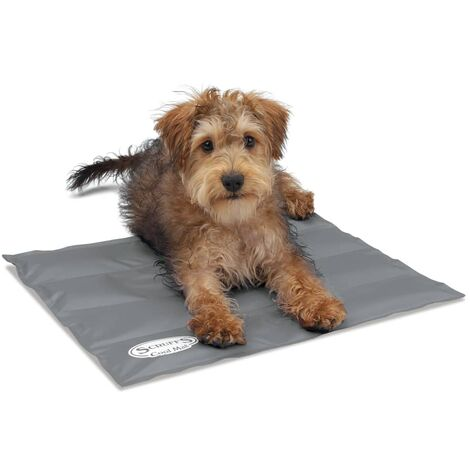 "main image of ""Scruffs & Tramps Dog Cooling Mat Grey Pet Mattress Pad Summer Bed Multi Sizes"""