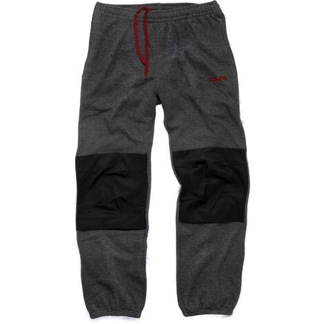 Scruffs Vintage Fleece Jogger Pants Dark Grey (S-XXL) Workwear Jogging Bottoms