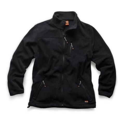 Scruffs WORKER Fleece Black (Sizes S-XXL) Water Resistant Men's Warm Work Jacket