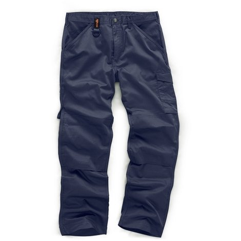 Scruffs WORKER Navy Multi Pocket Work Trousers (All Sizes) Trade Hardwearing