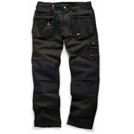 9f8b4cdbaf Scruffs WORKER PLUS Black Work Trousers Trade Hardwearing - 30in Waist -  34in Leg