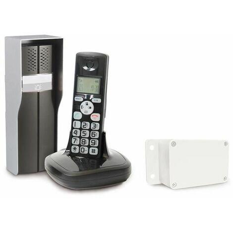 SCS SENTINEL Interphone audio DuoPhone 150 sans fil avec écran LCD DECT
