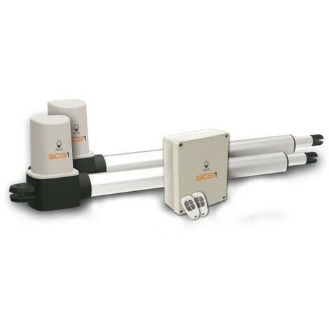 SCS SENTINEL Kit de motorisation a vérins pour portail battant 3mx300kg SCS 1 standard