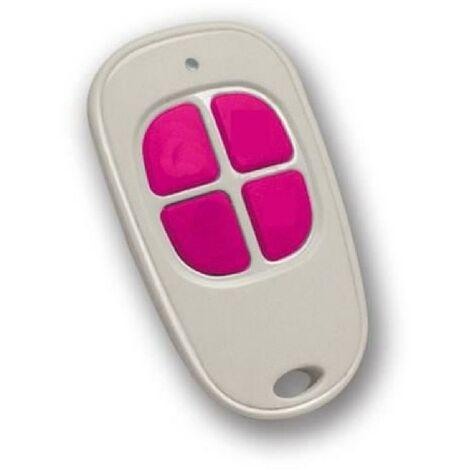 SCS SENTINEL Télécommande pour motorisation de portail 4 canaux blanc et fuchsia