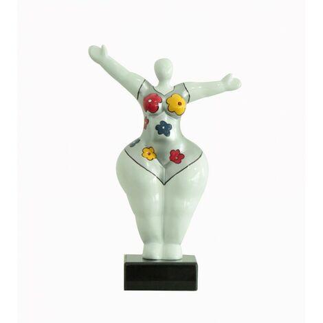 Sculpture Femme Bras levées - Lady Sun flower - Multicolore