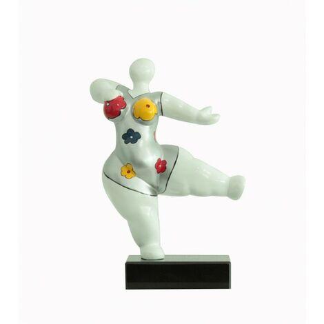 sculpture femme - LADY FLOWER - Blanc