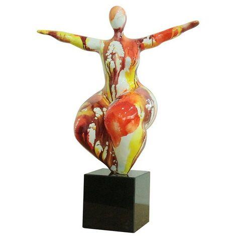 sculpture femme yoga équilibre multicolore - LADY YOGA