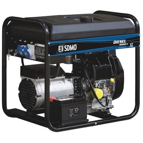 SDMO - Groupe électrogène Diesel 9kW avec démarrage électrique - DIESEL 10000 E XLC