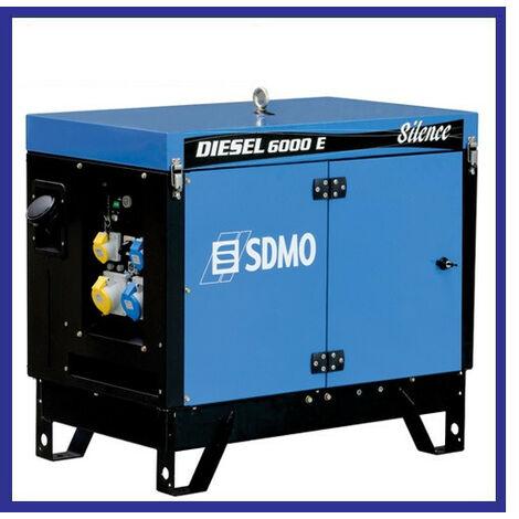 Sdmo - Groupe électrogènechantier Diesel 5200W Silencieux (démarrage électrique) - DIESEL 6000 E SILENCE