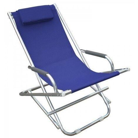 Sedia Sdraia O Sdraio.Sdraio Playa 2pz Blu Poltrona Sedia Sdraia Mare Spiaggia Giardino