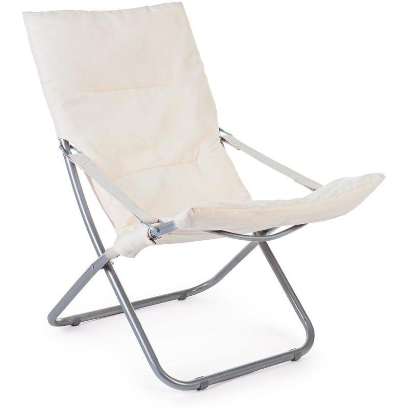 Sedie A Sdraio In Legno Imbottite.Sdraio Spiaggina Sedia Mare Giardino Relax Ocean Imbottita
