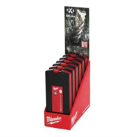 SDS Plus RX4 Drill Bit Set of 7 Counter Displ