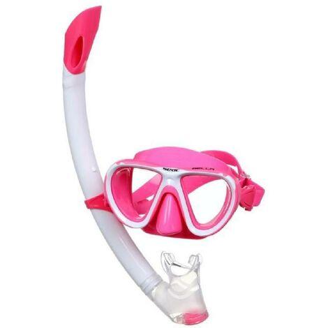 SEAC Masque et Tuba de plongee Bella - Enfant - Rose