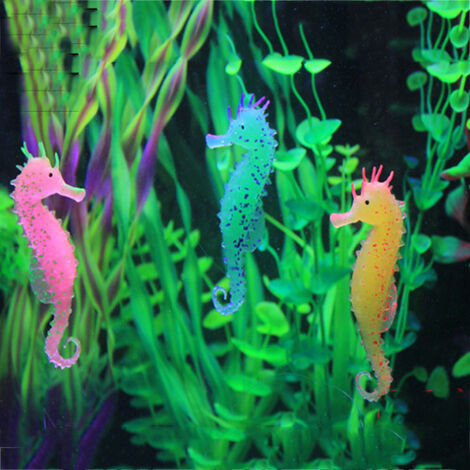 Seahorse Luminous Ornament Aquarium Luminous Seahorse Decoration for Fish Tank Aquarium Decoration 3 PCS,3PCS