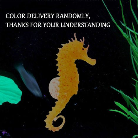Seahorse Luminous Ornament Aquarium Luminous Seahorse Decoration for Fish Tank Aquarium Decoration,1PC