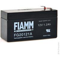 Sealed lead acid battery FIAMM FG20121A 12V 1.2Ah F4.8