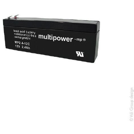Sealed lead acid battery MP2.4-12C 12V 2.4Ah F4.8
