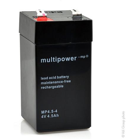 Sealed lead acid battery MP4.5-4 4V 4.5Ah F6.35