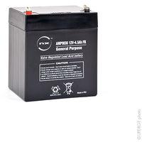 Sealed lead acid battery NX 4.5-12 General Purpose FR 12V 4.5Ah F4.8