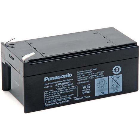 Sealed lead acid battery PANASONIC LC-R123R4PG 12V 3.4Ah F4.8