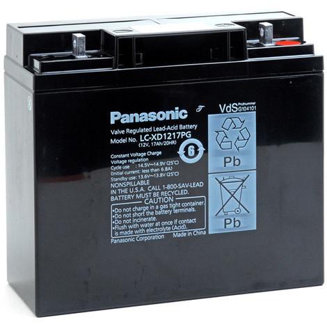 Sealed lead acid battery PANASONIC LC-XD1217PG 12V 17Ah M5-M