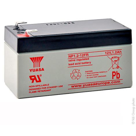 Sealed lead acid battery YUASA NP1.2-12FR 12V 1.2Ah F4.8