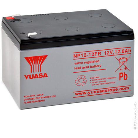 Sealed lead acid battery YUASA NP12-12FR 12V 12Ah F6.35