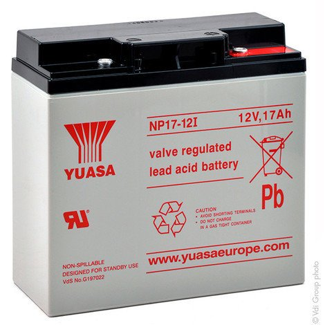 Sealed lead acid battery YUASA NP17-12I 12V 17Ah M5-F