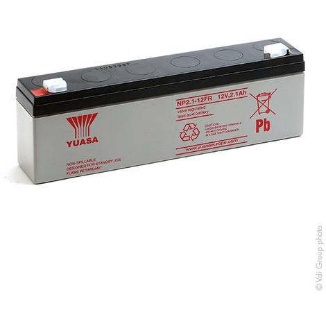 Sealed lead acid battery YUASA NP2.1-12FR 12V 2.1Ah F4.8