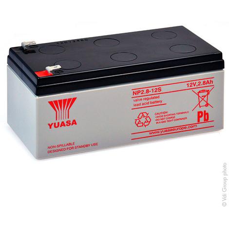 Sealed lead acid battery YUASA NP2.8-12 12V 2.8Ah F4.8