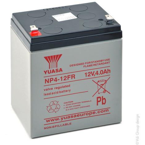 Sealed lead acid battery YUASA NP4-12FR 12V 4Ah F4.8