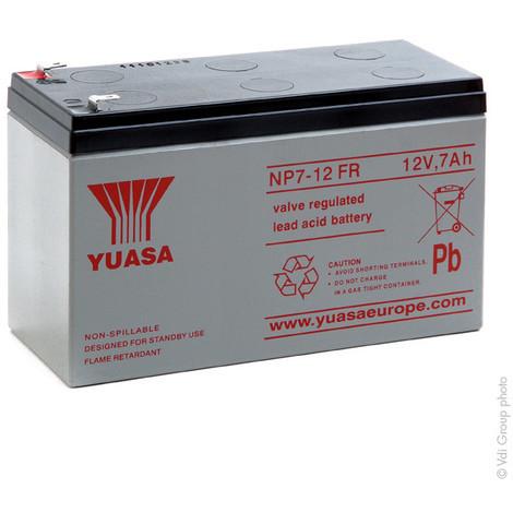 Sealed lead acid battery YUASA NP7-12FR 12V 7Ah F4.8