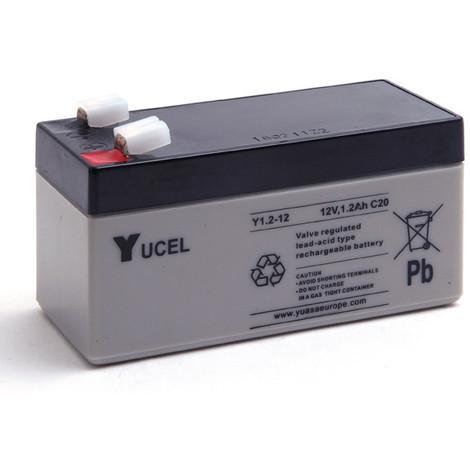 Sealed lead acid battery YUCEL Y1.2-12 12V 1.2Ah F4.8