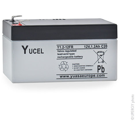 Sealed lead acid battery YUCEL Y1.2-12FR 12V 1.2Ah F4.8