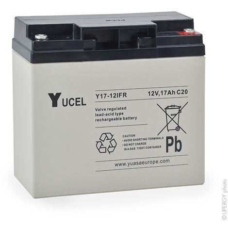 Sealed lead acid battery YUCEL Y17-12IFR 12V 17Ah M5-F