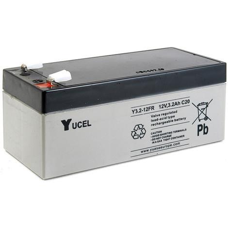 Sealed lead acid battery YUCEL Y3.2-12FR 12V 3.2Ah F4.8