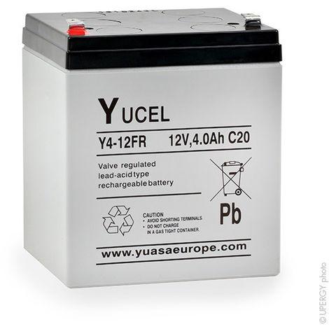 Sealed lead acid battery YUCEL Y4-12FR 12V 4Ah F4.8