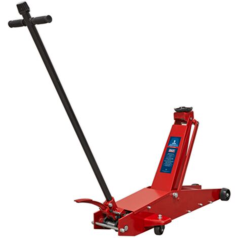 Sealey 3000HLC Trolley Jack 3tonne Long Reach High Lift Commercial