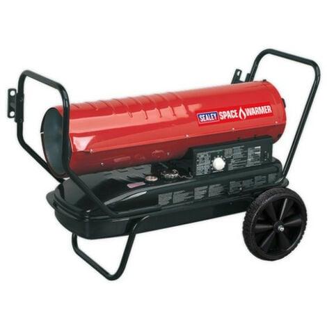 Sealey AB1008 Space Warmer Paraffin/Kerosene/Diesel Heater 100,000Btu/hr with Wheels
