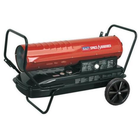 Sealey AB1758 Space Warmer Paraffin/Kerosene/Diesel Heater 175,000Btu/hr with Wheels