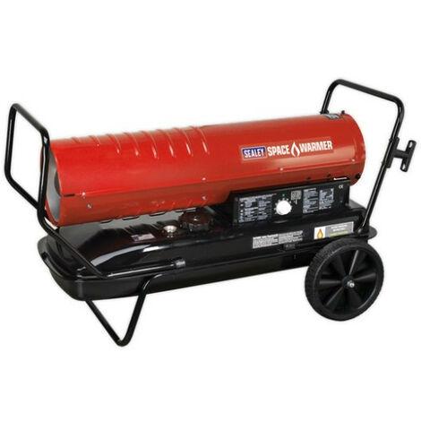 Sealey AB2158 Space Warmer Paraffin/Kerosene/Diesel Heater 215,000Btu/hr with Wheels