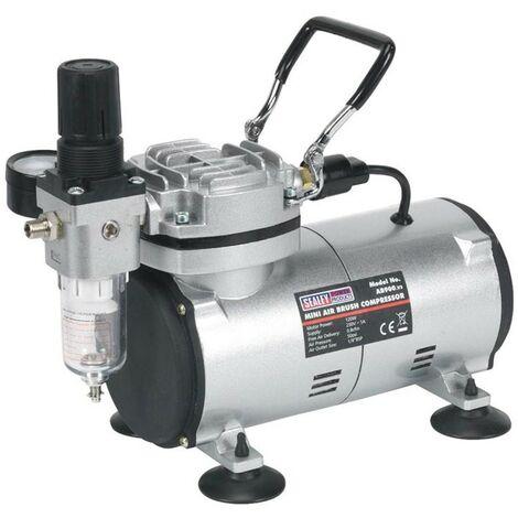 "main image of ""Sealey AB900 Mini Air Brush Compressor Quiet 120w Respray Compressor AB900"""