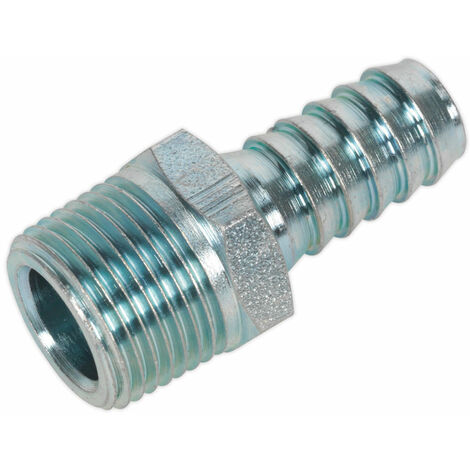 """Sealey AC41 Male Screwed Tail Piece 3/8""""bspt - 3/8"""" Hose Pack of 5"""